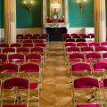 Chaisor Style, chaise pliante rouge et doré