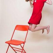 new design rouge - chaise pliante