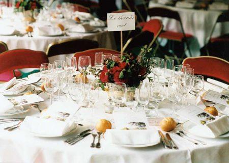 Présentation table ronde pour mariage
