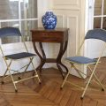 Chaisor Style, chaise pliante bleue