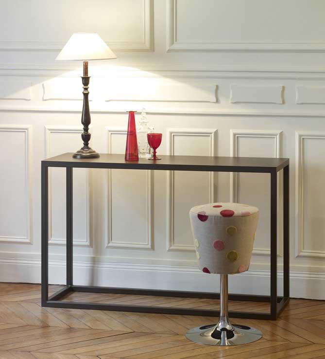Table Console Design En Acier Pour Entrée Salon Ou Cuisine