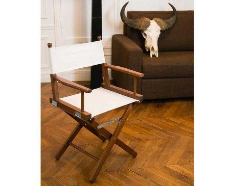 Régisseur, chaise pliante en bois