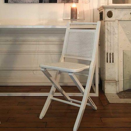 Deauville, la chaise pliante en cannage