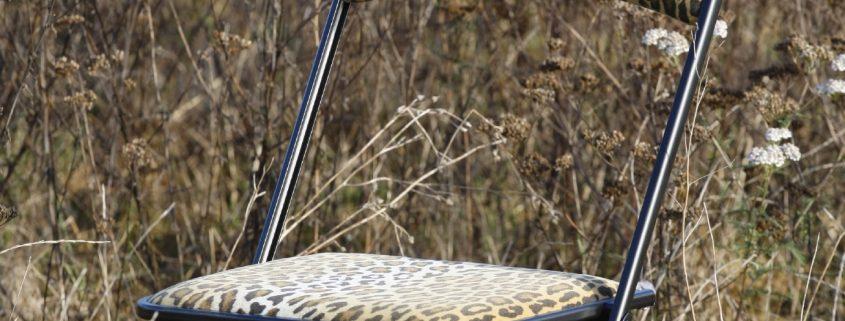 Chaise type Chaisor style léopard