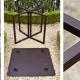 table pliante square